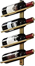HTTJJ Wall-Mounted Metal Wine Rack, Wine Rack for Wall Mounting with Bottle and Glass Holder, Wine Holder for Hanging Meta...
