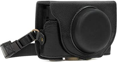 MegaGear Ever Ready Genuine Leather Camera Case Compatible with Sony Cyber-Shot DSC-RX100 VI, DSC-RX100 V, DSC-RX100 IV