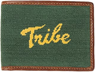 William & Mary Tribe Needlepoint Wallet in Hunter by Smathers & Branson