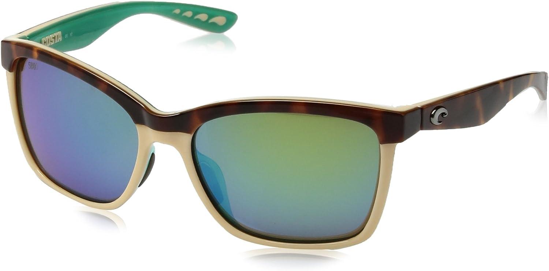 Costa Del Mar Anaa 105 Retro Tort Cream Mint Sunglasses for Womens