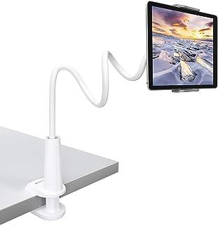 Tryone Soporte Tablet Móvil Multiángulo - Soporte con Cuello de Cisne Brazo para iPad Serie/Nintendo Switch/Samsung Galaxy Tabs/Huawei Mediapad/Kindle Fire y más, 75cm de Longitud Total(Blanco)