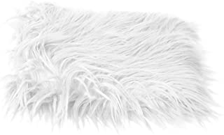 PIXNOR Baby Newborn Photography Photo Props DIY Soft Fur Photographic Mat Blanket Rug (White)