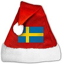 Flag Of Sweden Santa Hat,pleuche Christmas Hat With Plush Trim &and Comfort Liner Reindeer Hat