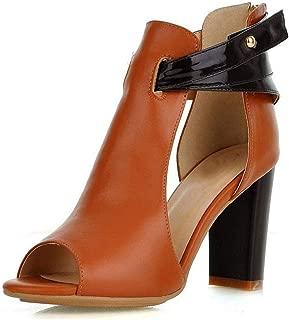 Surprise S Ladies Fashion Heels Platform Sandals Shoes Women's Natural Leather High Heel Sandals Shoes Size 32-43