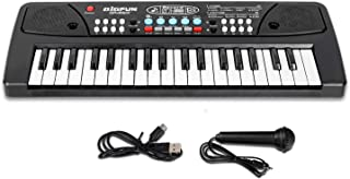 Kids Keyboard Piano, 37 Key Portable Music Piano Keyboard, Electronic Musical Instrument with Microphone for Kids Early Le...
