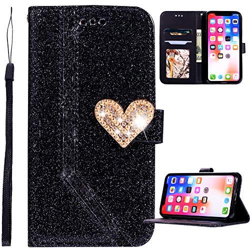 WANYINGLIN Colorful Slim Book für Samsung S20,Girl Love Diamond Sparkle Glitter Leather Hülle Leder Magnet Flip Kickstand Stunning Bling Purse Wallet with Card Slot Holder