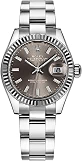 Women's Rolex Lady-Datejust 28 Gray Dial Luxury Watch (Reference: 279174)