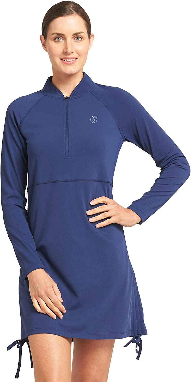 Solbari Fees free UPF 50+ Women's Sun Swim Swimwear Dress Protection Res Mail order