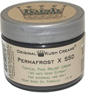 Kush Creams - Permafrost x SSD - Emu Oil & Hemp Oil Infused with 30+ Herbal Ingredients - Topical Pain Relief Cream with Aromatherapy - Award Winning - Doctor Recommended - Lab Tested - 1.5 oz Jar