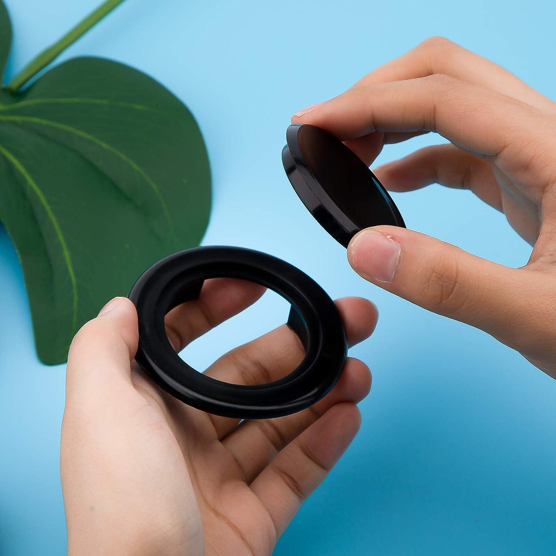 schwarz AIEX 5 cm 2 Set Patio Tischschirm Loch Ring Und Kappen-Set Silikon Transparent Einschlie/ßlich 2 Ringe und 2 Stopper