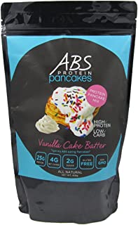 Protein Pancake Mix – Vanilla Cake Batter – ABS Protein Pancakes and Waffles – Gluten Free, Keto Friendly Protein Powder Mix – High Protein, Low Carb, Low Sugar – 1 Pound Package ($2.50/Ounce)