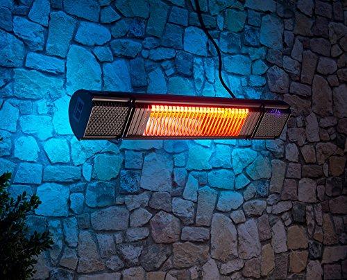 Semptec Urban Survival Technology Semptec Elektroheizung: Low-Glare-IR-Heizstrahler mit Bluetooth, Lautsprecher & App, 2.000 W (Decken-Infrarot-Heizstrahler) - 9