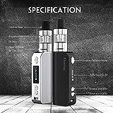 Manvap® GENT Kit Complet E-Cigarette - 80W Vape E-Cig Avec E-liquide 10ml x 5 Goûts, Sans Nicotine Ni Tabac, Vente interdite aux personnes âgées de moins de 18 ans