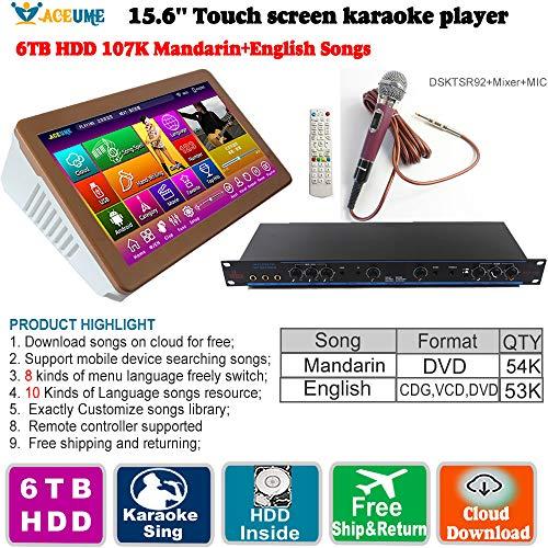 Buy Bargain 6TB HDD 107K Mandarin,DVD Songs,English CDG,VCD, DVD Songs,22''Touch Screen Karaoke Play...
