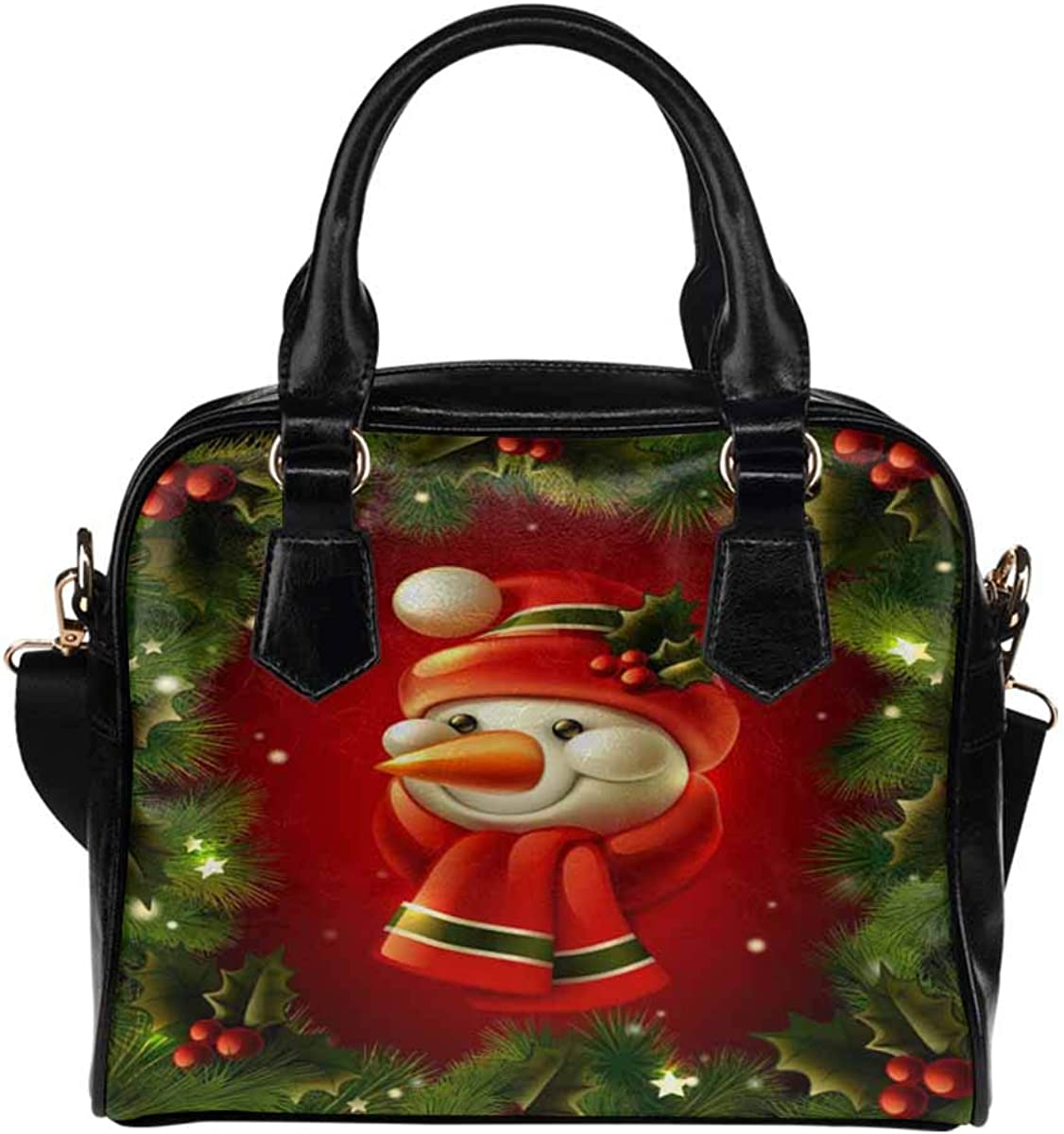 Christmas Santa Snowman Deer Opening large Mesa Mall release sale Xmas Handb PU Leather Women's Purse