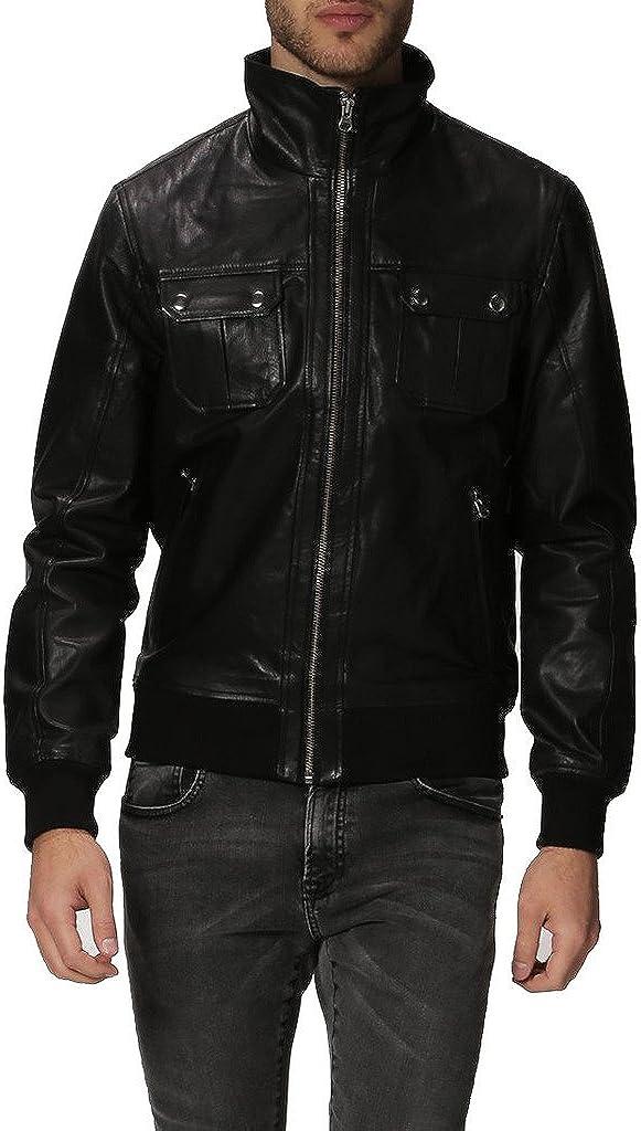 Men's New Genuine Low price Cow Leather Biker Motorcycle 35% OFF Designer Ja