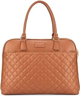 Plambag Laptop Tote Bag, 15.6 Inch Laptop Bag Briefcase for Women Brown Brown Medium
