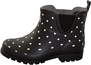 593e0d993f55 Jileon Ankle Height Rubber Rain Boots for Women - Wide in The Foot and Ankle
