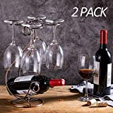 KerKoor Wine Rack Tabletop Free Standing Stackable Wine Glass Holder Metal Racks for Home, Kitchen, Holiday, Party 2 Pack