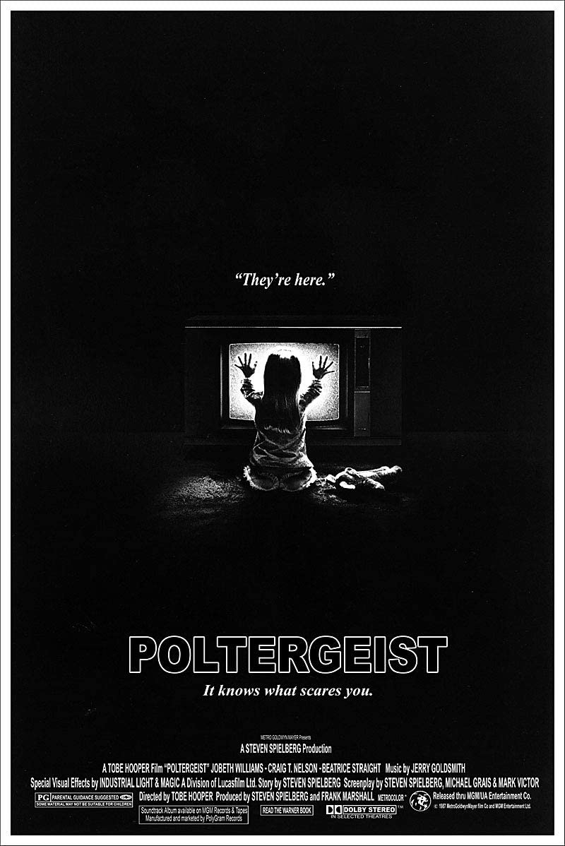 American Gift Services Vintage Black And White Horror Movie Poster Poltergeist 24x36 Posters Prints