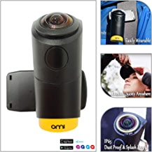 $249 Get OmiCam II Wearable VR Action Camera with 4K 240 Degrees View Image Stablization Sports Travel Camera for Outdoor Blogging Virtual Reality/New and Upgraded Edition