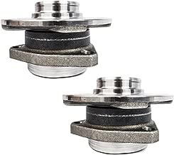 Pair Set Front Wheel Hub & Bearing Assemblies w/ 3 Bolt Mounting Replacement for Audi A3 Volkswagen Rabbit Golf HA590198 5K0498621A