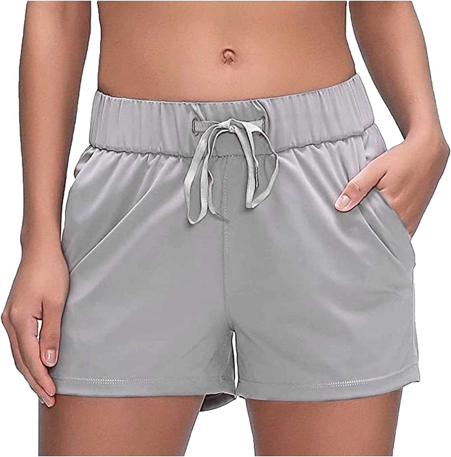 40% OFF Cheap Sale Meengg Womens Casual Max 40% OFF Athletic Shorts Pants Worko Yoga High Waist