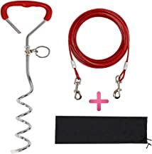 Upgraded Dog Tie Out Cable and Stake,16