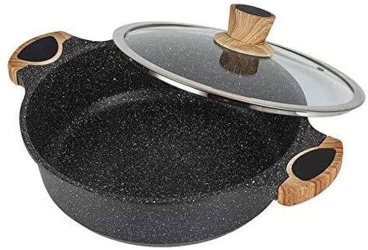 Marmite en acier inoxydable Pot, poêle Anti-adhésive, cuisinière à gaz de Cuisson Pot Universel Domestique (Color : 28cm) 24cm
