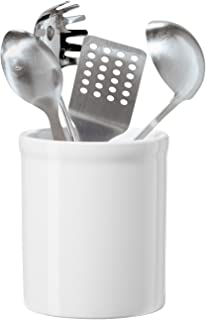 OGGI White Ceramic Utensil Holder