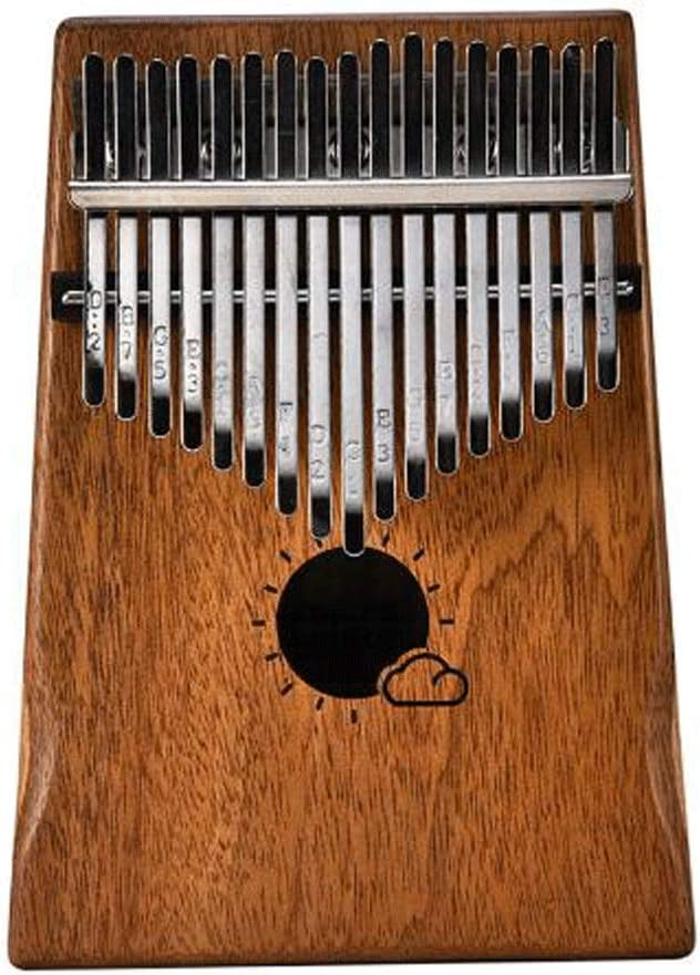 Tulsa Mall LZL Finger Piano Thumb 17 Department store Box with Protective Mahogan Keys