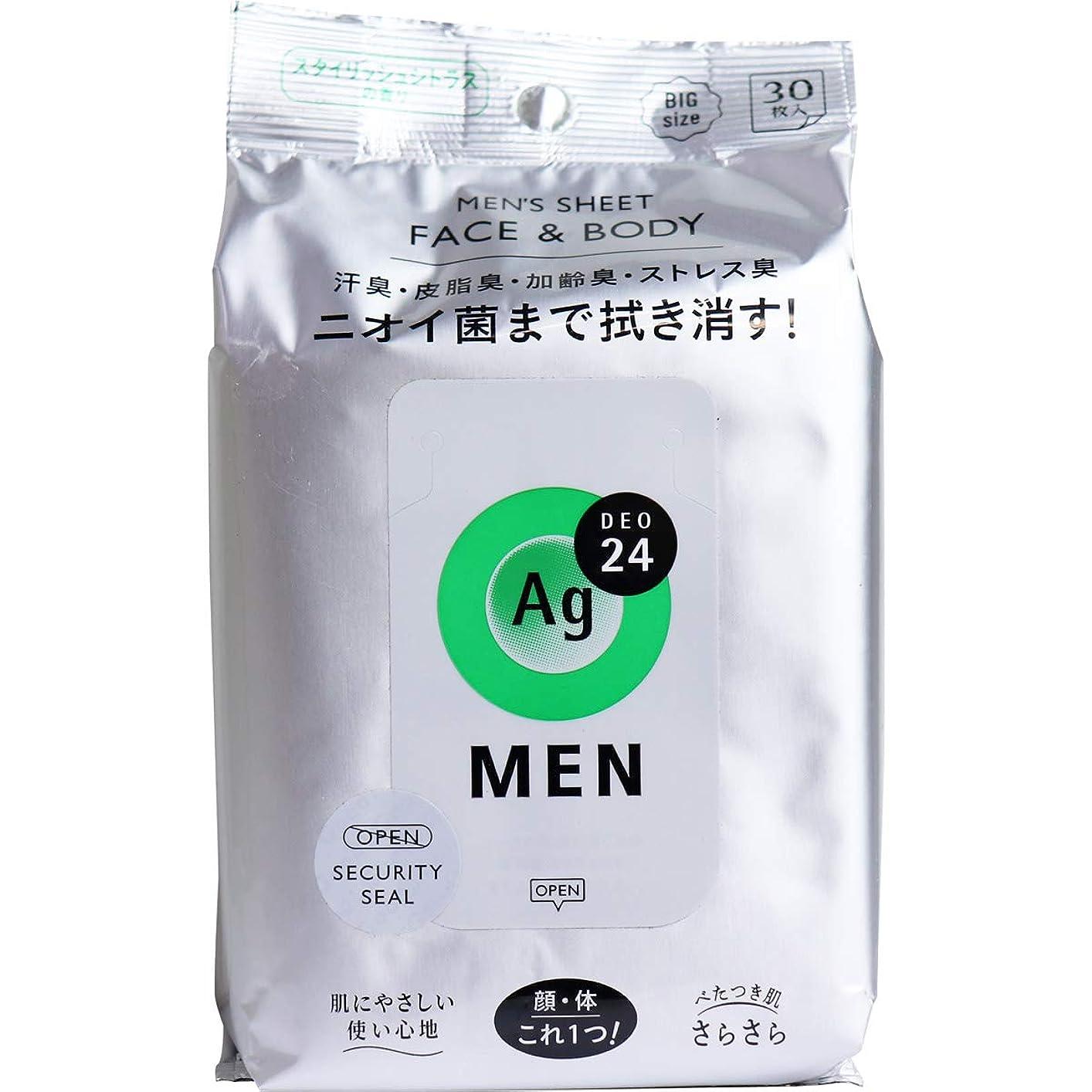 なめる高く移行するエージー24メン メンズシート フェイス&ボディ(シトラス)30枚 (4)