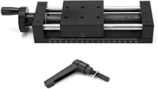 Manual sliding table gear rotating dovetail guide rail handle control slider with scale SPXKST80-100