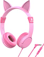[Upgrade] iClever Boostcare Kids Headphones, Cat Ear Hello Kitty Headphones for Kids on..