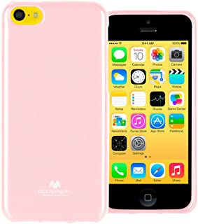 GOOSPERY Marlang Marlang iPhone 5C Case - Baby Pink/Free Screen Protector [Slim Fit] TPU Case [Flexible] Pearl Jelly [Protection] Bumper Cover for Apple iPhone5C, IP5C-JEL/SP-PNK