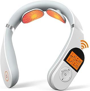 Masseur Cervical, Masseur de Nuque Portable SHEON, Appareil de Massage de Cou Intelligent à Impulsion électrique Avec Fonc...