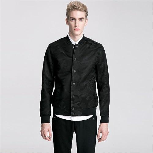Fjubjv la Mode Masculine Petite Veste, Les Jeunes Hommes est décontracté Manteau, High rue mode Veste,Camouflage,M,