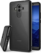Ringke Fusion Compatible with Huawei Mate 10 Pro Crystal Clear Minimalist Transparent PC Back TPU Bumper Drop Protection Scratch Resistant Protective Cover Huawei Mate 10 Pro Case - Ink Black
