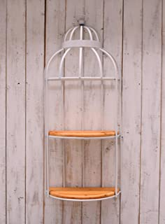 Kitzen Nordic Vintage Wall Hangings Iron Bird Cage Racks Wall Shelf Storage Rack Co