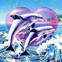 DIYダイヤモンド刺繍5Dダイヤモンド塗装動物マリンダイヤモンドモザイク絵画現代の画像クロスステッチ樹脂ホーム絵画-40 * 40センチ