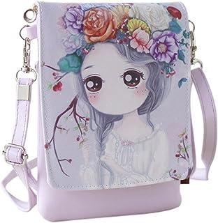 Shoulder Bags Women'sCartoon Handbags Kids Girls Princess Cute Mini Crossbody Bag Rucksack (E)