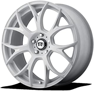 MOTEGI MR126 Matte White With Milled Accents Wheel with Painted and Chromium (hexavalent compounds) (20 x 10. inches /0 x 57 mm, 32 mm Offset)