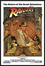 Indiana Jones - Raiders of The Lost Ark - Framed Movie Poster/Print (1982 Re-Release - Hat & Whip) (Size: 27 inches x 40 inches)