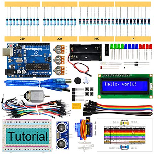 Freenove Ultrasonic Starter Kit with Control Board (Compatible with Arduino IDE), 139 Pages Detailed Tutorial, 158 Items, 26 Projects, Solderless Breadboard
