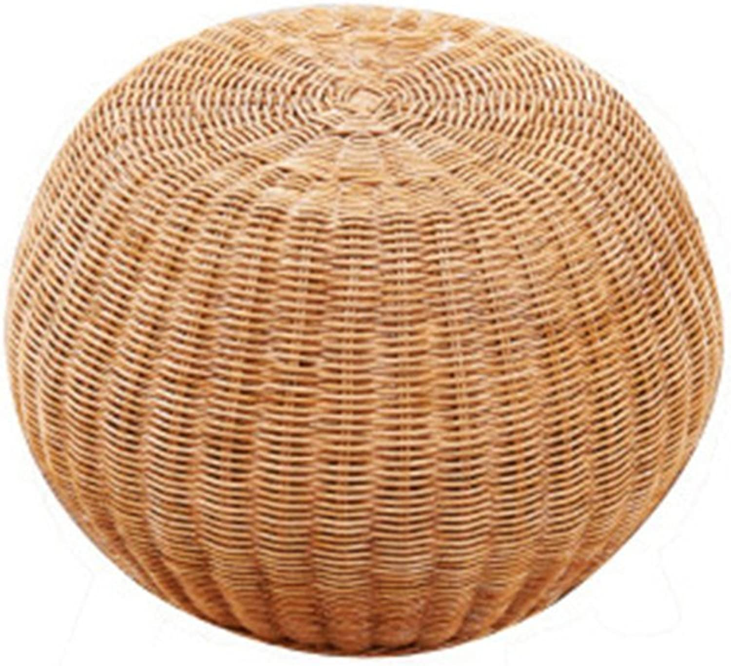 FORWIN US Stool- Stool Round Rattan Drum Chair shoes Bench Wooden shoes Stool Adult Seat Tea Stool Small Sofa Foot Makeup Stool Without Backrest 30 X 30 X 33 cm Stool (Size   303033)