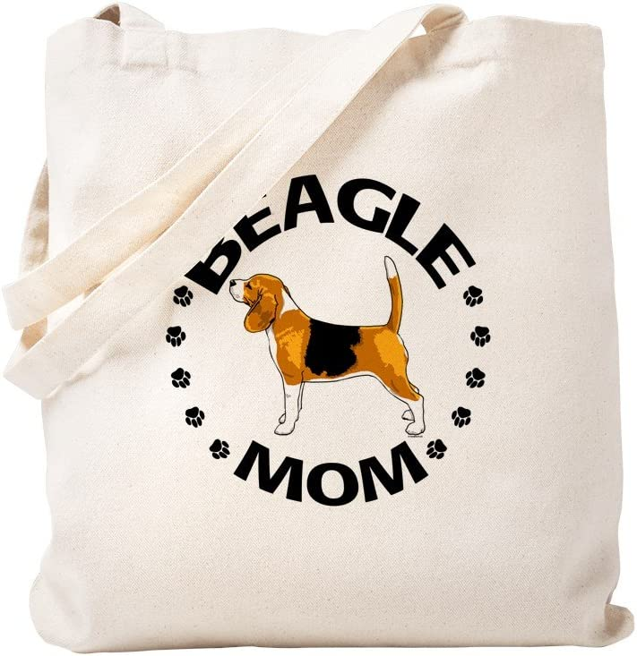 CafePress Beagle Mom Tote Ranking integrated 1st place Canvas Natural Attention brand Bag Reusable