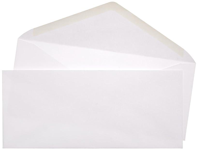AmazonBasics #10 Business Envelopes with Gummed Seal, White, 500-Pack