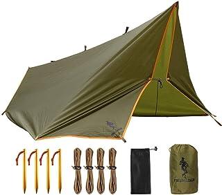 FREE SOLDIER Camping Tarp Waterdicht 3 m x 3.2 m Grote Hangmat Tent Tarp Draagbare Dekzeil Anti-UV Onderdak Zonneblok Zonn...