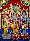 The Trio : Brahma Vishnu Mahesh/ Hindu God Poster with