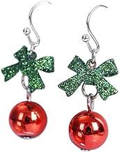 TOOGOO Natale orecchini donne romantico arco cravatta pietra orecchio moda brillante strass gioielli regalo per Natale